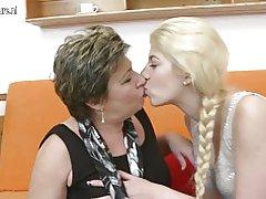 Dva stara i mladi lezbejke koristi doubledong